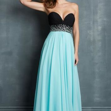 Night Moves Flowy Prom Dress 7023