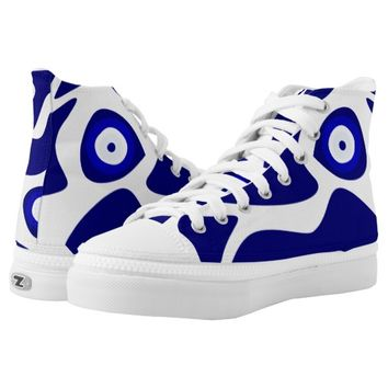 Evil Eye Lava Pattern High Top Sneakers Printed Shoes