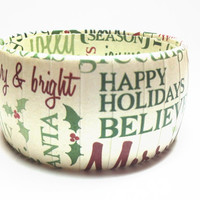 Christmas Bracelet featuring Holiday Words, Christmas Jewelry to accessorize your Holiday wardrobe
