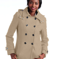 Calvin Klein Hooded Pea Coat