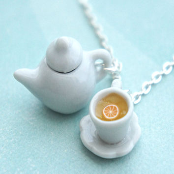 Tea Set Necklace