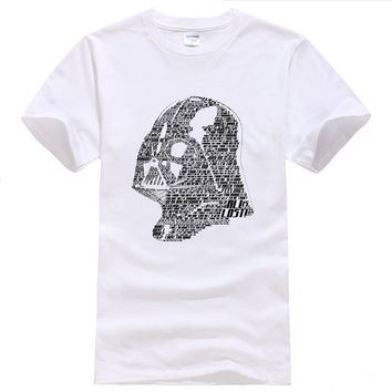 Men's Star Wars Darth Vader T-shirt Men Casual 100% Cotton Printed Short Sleeve Loose Men New T Shirt