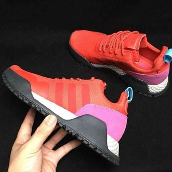 HCXX A285 Adidas AF 1.4 Primeknit Low Casual Sports Running Shoes Pink Red