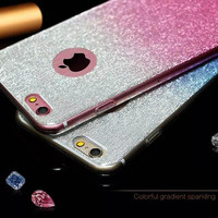 Sparkling Phone Cases for Apple iPhone 6 6S 6plus 6Splus Gradient Color Design Covers