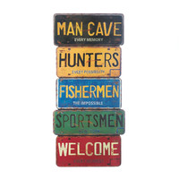 Man Cave License Plate Wall Decor
