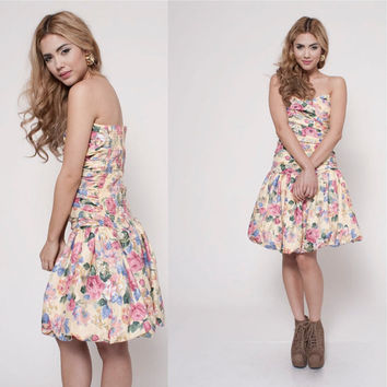 90's Floral Valley Girl Dress