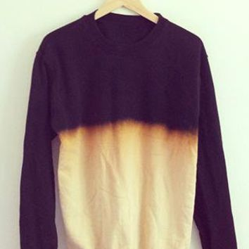 Half Dip Jumper Hand Dyed T-Shirt Ombre Boyfriend from Ombre-Ombre