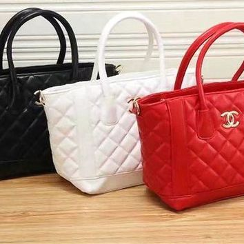 VONE05E Chanel' Fashion Quilted Tote Single Shoulder Bag Women Temperament Big Handbag