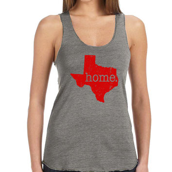Grey Texas Is My Home Tank Top