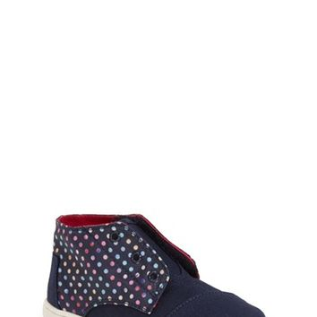 Girl's TOMS 'Paseo - Dots Tiny' Mid Sneaker,