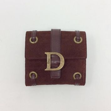 Dior Size Small Brown Wallet