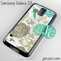 retro floral Phone case for samsung galaxy S3/S4/S5