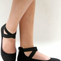 New Women AD2S Black Mary Jane Ankle Strap Ballet Flats sz 5 to 11