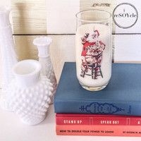 Norman Rockwell Coca Cola Christmas Collectors Glass Soy Candle - Volcano Fragrance Type - Caldera