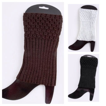 Half N' Half Leg Warmers Boot Toppers