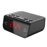 Modern Compact Digital Alarm Clock FM Radio with Dual Alarm Buzzer Snooze Sleep Timer Red LED Time Display Clock