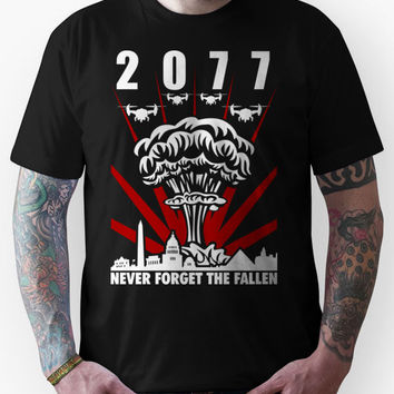 Fallout 3 / New Vegas - 2077 Never Forget The Fallen V1 Unisex T-Shirt