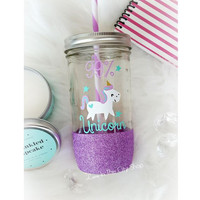 Unicorn Glass Tumbler