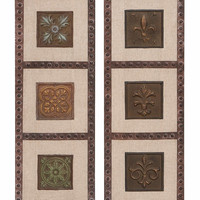Benzara Floral Greek Inspired Rustic MultiFrame - Set of 2