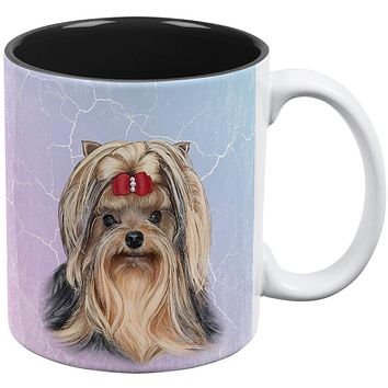 Yorkshire Terrier Live Forever All Over Coffee Mug