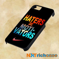 Nike Haters Motivation Nebula Galaxy  For iPhone, iPod, iPad and Samsung Galaxy Case