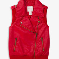 Quilted Heart Moto Vest