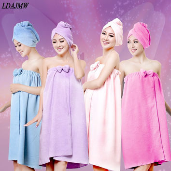 Hot High quality Ms Household Bathroom Bath Robe Amazing Magic Towel Microfiber Towel Sexy Suspenders Bath Skirt