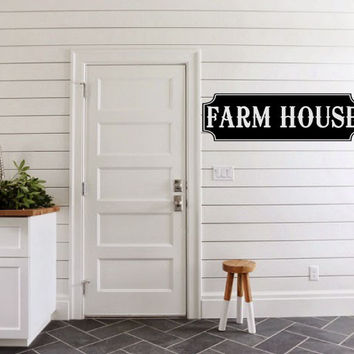 Farm House Vinyl Wall Words Decal Sticker Graphic