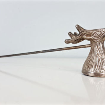 Vintage Candle Snuffer, Deer Head Candle Snuffer, Stag Head Candle Snuffer, Incense Snuffer, Reindeer Candle Snuffer, Rustic Home Decor