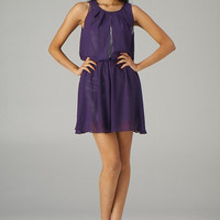 Kiss and Tell Sequin Layered Cocktail Dress in Majestic Purple | Sincerely Sweet Boutique