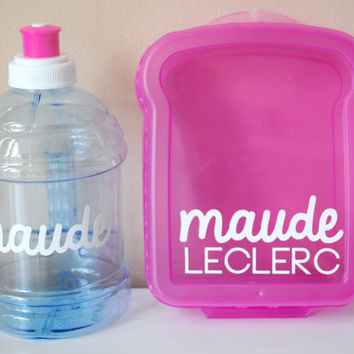 Customizable Sandwich Container AND Matching Jug PINK