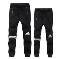 ADIDAS Women Men Unisex Casual Pants Trousers Sweatpants Black