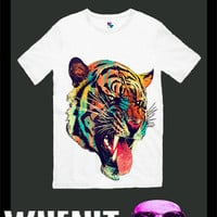 worldwide shipping just 7 days Tiger Face men t shirt 30286