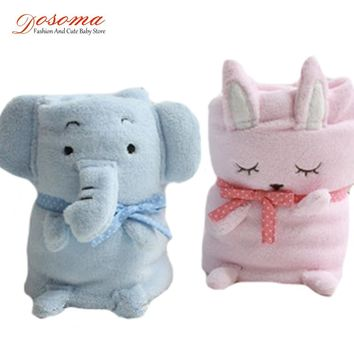 New coral fleece baby blanket child blanket super soft and comfortable cute animal toys child supplies baby sleepping 90*72cm