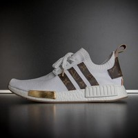 ABHCXX Louis Vuitton x Adidas NMD White Sneakers