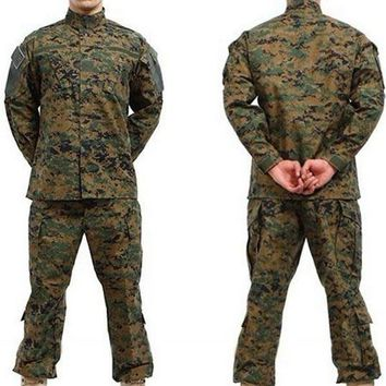 BDU USMC Camouflage suit sets Army Military uniform combat Airsoft uniform -Only shirt & pants