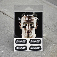 Black Sleefs Savage  Eye Black Stickers