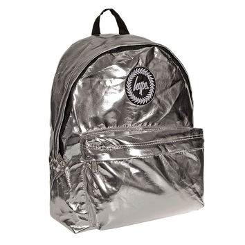 HYPE Metallic Backpack (Silver)