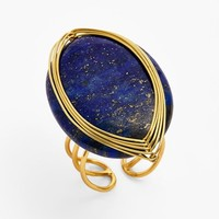 Women's Panacea Adjustable Lapis Wire Wrapped Ring