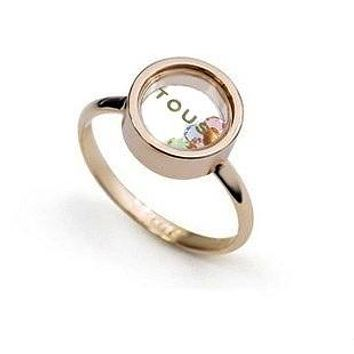 Italina Rigant 18K Rose Gold Plated Tou--s-- Ring Made