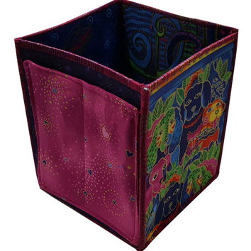 Home Storage Organizer in Laurel Burch Dogs Fabrics
