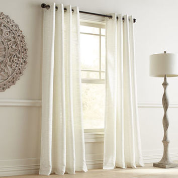Audrey Shimmer Pearl Grommet Curtain