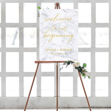 Marble Calligraphy Welcome Sign, Marble Wedding Welcome Sign, Custom Welcome Sign, Welcome Sign Poster, Modern Wedding Sign, Welcome Poster