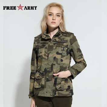 Trendy High Quality Camo Women Jacket Military Tactical Coat Casual Bomber Jacket Green Womens Designer Brand Coat Jacket Gs-8253B AT_94_13