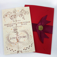 Romance Managed - Harry Potter Inspired Wedding Invitation Suite
