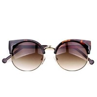 New Vintage Style Cat Eye Sunglasses Sexy Fashion Women Eyeglasses Leopard