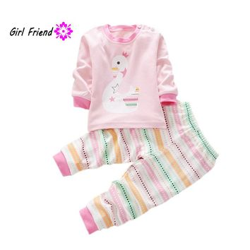 Baby Boy Girl Clothes Long Sleeve Top + Pants 2pcs Suit Baby Clothing Set Newborn Kids Clothing