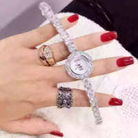 """CHANEL"" Women Fashion Luxury Crystal Quartz Watch Casual Wristwatch"