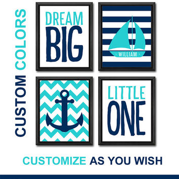 nautical wall art for kids room nautical boy nursery art personalized sailor nursery art anchor sail boat kids playroom decor kids quote