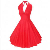 Dress Vintage 3-color One Piece Dress [4918717060]